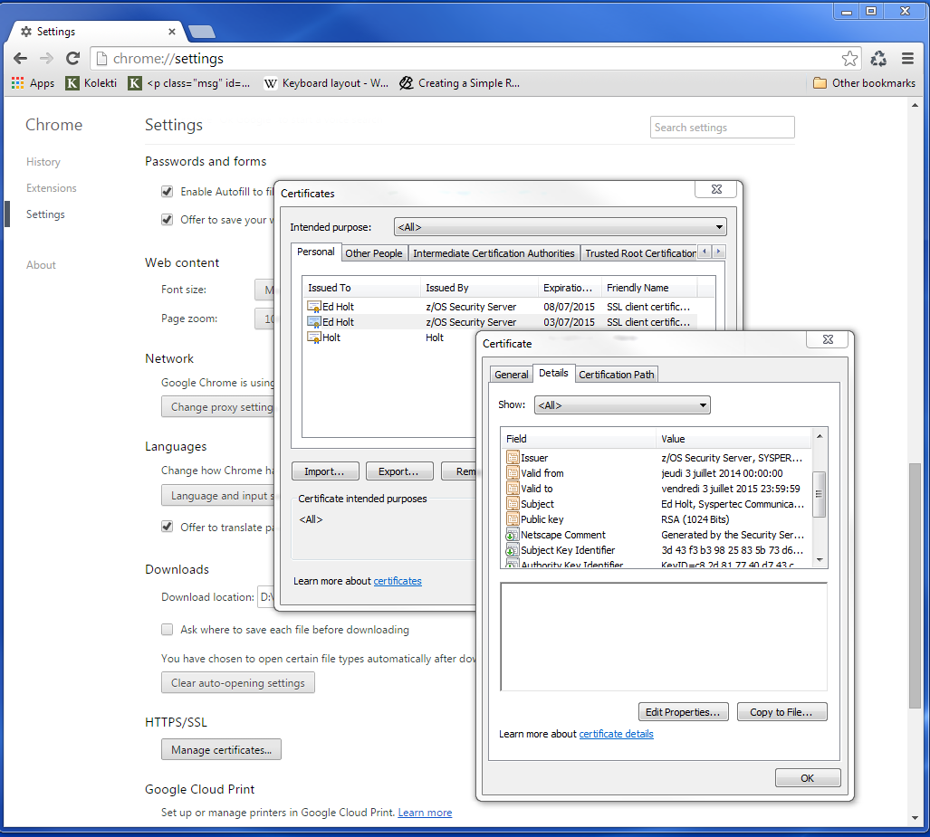 Virtel Security Using Server And Client Certificates